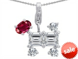Original Star K™ Dog Pendant With Created Ruby style: 306306