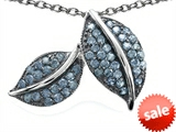 Original Star K™ Nature Lover Leaf Pendant with Simulated Aquamarine style: 306310