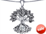 Celtic Love by Kelly Tree Of Life Good Luck Pendant With 7mm Round Genuine White Topaz