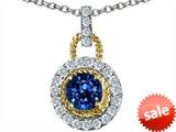 Original Star K™ Round 6mm Created Sapphire Pendant style: 306319