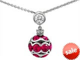 Original Star K™ Created Ruby Ball Pendant