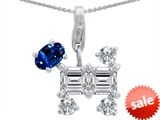 Original Star K™ Dog Pendant With Created Sapphire