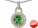 Original Star K™ Round 6mm Simulated Emerald Pendant style: 306343