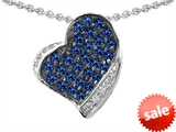 Original Star K™ Heart Shape Love Pendant With Created Sapphire style: 306346