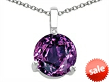 Tommaso Design™ 7mm Round Simulated Alexandrite Pendant style: 306350
