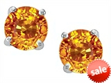 Star K™ Round 7mm Simulated Citrine Earrings Studs style: 306352