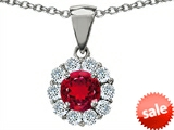 Original Star K™ Created Round Ruby Pendant