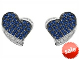 Original Star K™ Heart Shape Love Earrings With Created Sapphire