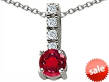 Original Star K™ Round 6mm Created Ruby Pendant