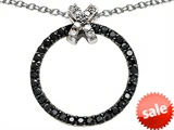 Original Star K™ Round Black and White Cubic Zirconia X and O Pendant style: 306394
