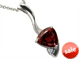 Tommaso Design™ 7mm Trillion Cut Genuine Garnet Pendant