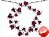Original Star K™ Large Circle of Love Pendant with 20 Created Ruby Hearts style: 306401