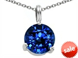 Tommaso Design™ Round 7mm Created Sapphire Pendant style: 306407