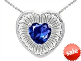 Original Star K™ Heart Shape Created Sapphire Heart Pendant style: 306418