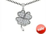 Celtic Love by Kelly Lucky Clover Pendant with Cubic Zirconia