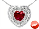 Original Star K™ Heart Shape Created Ruby Heart Pendant