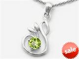 Original Star K™ Round Genuine Peridot Swan Pendant style: 306437