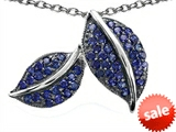 Original Star K™ Nature Lover Leaf Pendant with Created Sapphire style: 306442