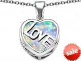Original Star K™ Large Love Heart Pendant with 15mm Heart Shape Created Opal style: 306485