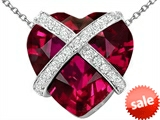 Original Star K™ Large Prisoner of Love Heart Pendant with 15mm Heart Shape Created Ruby style: 306501