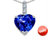 Original Star K™ Large 12mm Heart Shape Simulated Tanzanite Pendant