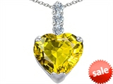 Original Star K™ Large 12mm Heart Shape Simulated Peridot Pendant