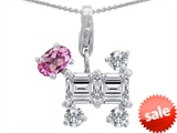 Original Star K™ Dog Pendant With Created Pink Sapphire