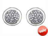 Original Star K™ Round Puffed Earrings with Cubic Zirconia