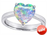 Original Star K™ Large 10mm Heart Shape Solitaire Engagement Ring with Created Opal