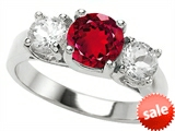 Original Star K™ 7mm Round Created Ruby Engagement Ring