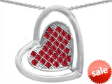 Original Star K™ Round Created Ruby Heart Shape Pendant style: 306608