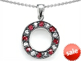 Original Star K™ Love Circle Pendant With Created Ruby style: 306610
