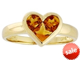 Tommaso Design™ Invisible Set Genuine Citrine Heart Ring style: 306611