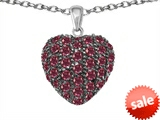 Original Star K™ Puffed Heart Love Pendant with Created Ruby