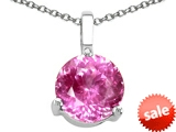 Tommaso Design™ Round 7mm Created Pink Sapphire Pendant style: 306616