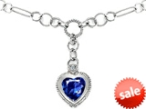 Original Star K™ Heart Shape Created Sapphire Pendant style: 306617