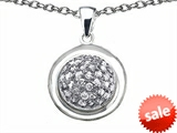 Original Star K™ Round Puffed Pendant with Cubic Zirconia