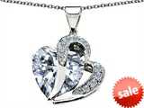 Original Star K™ Heart Shape 12mm Cubic Zirconia Pendant