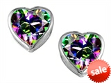 Original Star K™ 7mm Heart Shape Rainbow Mystic Topaz Heart Earrings Studs style: 306724