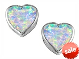 Original Star K™ 7mm Heart Shape Simulated Opal Heart Earrings Studs style: 306725