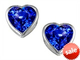 Original Star K™ 7mm Heart Shape Simulated Tanzanite Heart Earring Studs