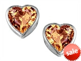 Original Star K™ 7mm Heart Shape Simulated Imperial Yellow Topaz Heart Earring Studs