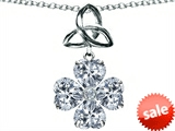 Celtic Love by Kelly™ Lucky Shamrock with Celtic Knot made with Heart 6mm Genuine White Topaz style: 306738