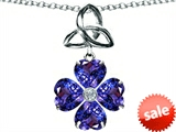 Celtic Love by Kelly™ Lucky Shamrock with Celtic Knot made with Heart 6mm Simulated Tanzanite