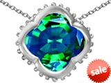 Original Star K™ Large Clover Pendant with 12mm Clover Cut Simulated Emerald style: 306743