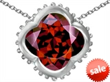 Original Star K™ Large Clover Pendant with 12mm Clover Cut Simulated Garnet style: 306744
