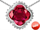 Original Star K™ Large Clover Pendant with 12mm Clover Cut Created Ruby style: 306745