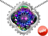 Original Star K™ Large Clover Pendant with 12mm Clover Cut Simulated Mystic Topaz style: 306747