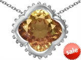 Original Star K™ Large Clover Pendant with 12mm Clover Cut Simulated Imperial Yellow Topaz style: 306750