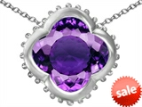 Original Star K™ Large Clover Pendant with 12mm Clover Cut Simulated Amethyst style: 306752